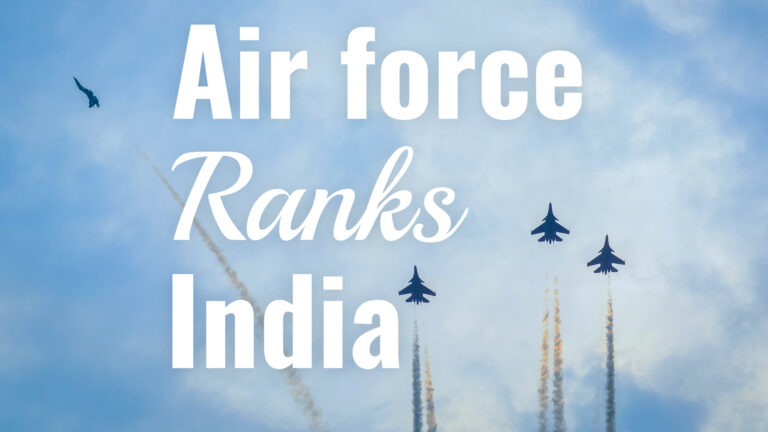 airforce ranks in india