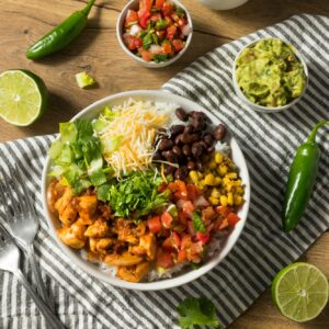 Homemade Healthy Chicken Burrito Bowl