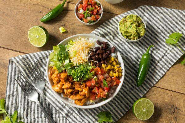 Homemade Healthy Chicken Burrito Bowl