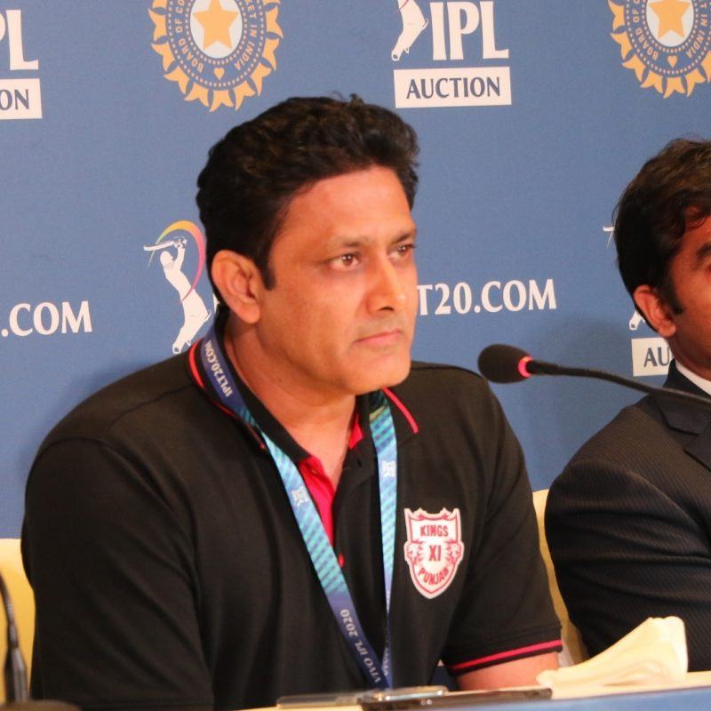 Kolkata: Anil Kumble, Coach, Kings XI Punjab during a press conference after IPL auctions in Kolkata on Dec. 19, 2019. (Photo: IANS)