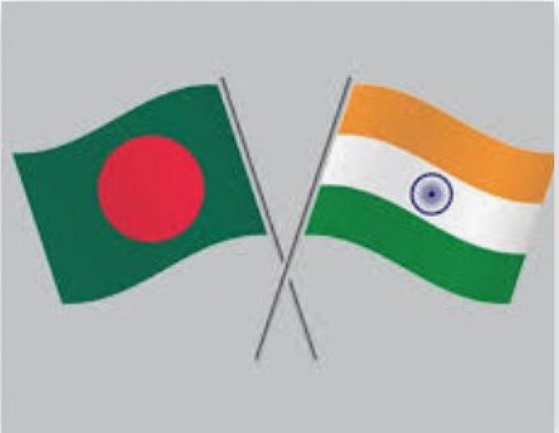 Bangladesh and India Flag
