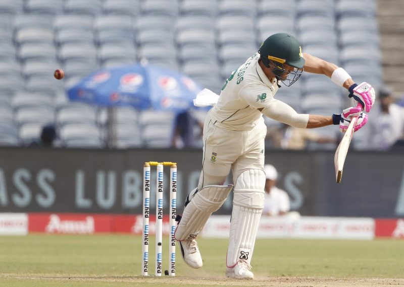 Pune: South Africa's Faf du Plessis in action on Day 4 of the second Test match between India and South Africa at Maharashtra Cricket Association Stadium in Pune, on Oct 13, 2019. (Photo: Surjeet Yadav /IANS)
