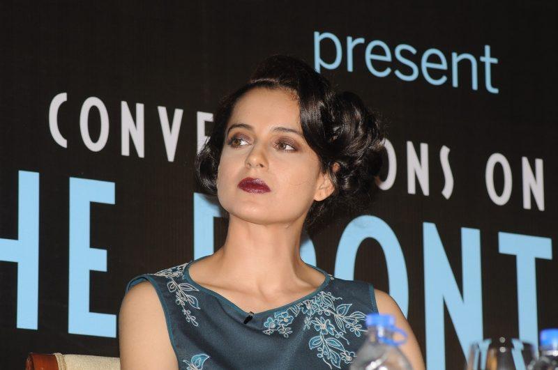 Mumbai: Actress Kangana Ranaut during the launch of Anupama Chopra`s book The Front Row in Mumbai on 7 April 2015. (Photo: IANS)