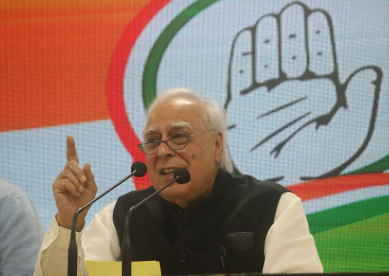New Delhi: Senior Congress leader Kapil Sibal addresses a press conference at the party's headquarters in New Delhi on Jan 21, 2020. (Photo: IANS)