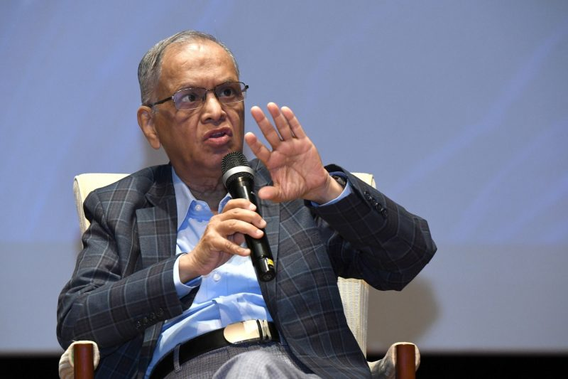 Bengaluru: Infosys co-founder, NR Narayana Murthy addresses during a programme organised to announce winners for Infosys Prize 2019 in Bengaluru on Nov 7, 2019. (Photo: IANS)
