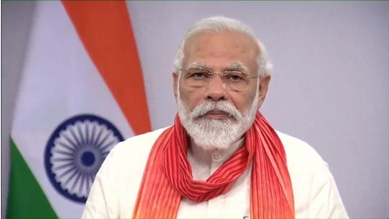 New Delhi: Prime Minister Narendra Modi addresses the nation on the occasion of 6th International Yoga Day in New Delhi on June 21, 2020. (Photo: IANS)