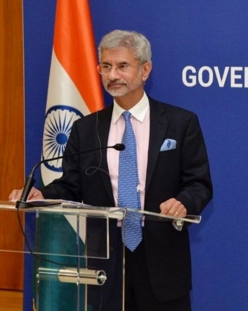New Delhi: External affairs minister S Jaishankar and Serbian Foreign Minister Ivica Dacic during a joint press conference in New Delhi on Nov 8, 2019. (Photo: IANS/MEA)