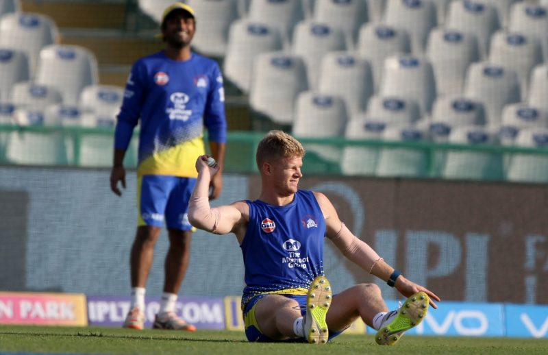 Mohali: Chennai Super Kings player Sam Billings during a practice session in Mohali on April 14, 2018. (Photo: Surjeet Yadav/IANS)