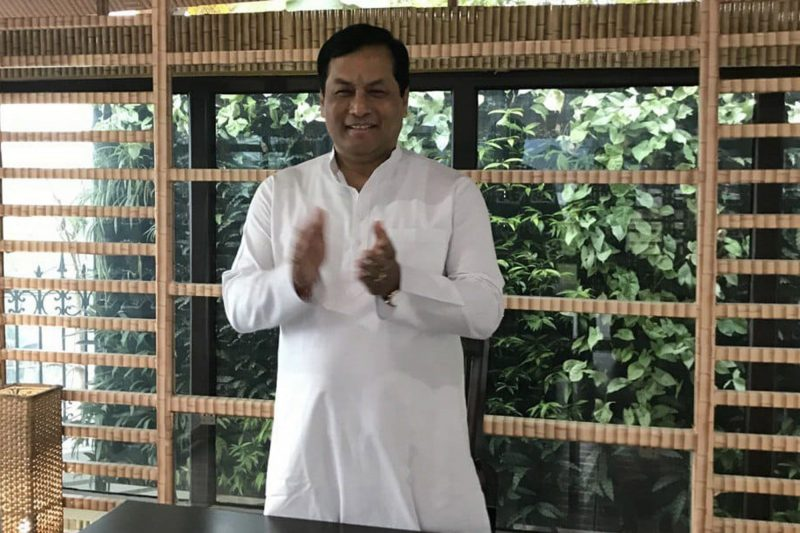 Guwahati: Assam Chief Minister Sarbananda Sonowal claps to express theirhis appreciation for those who have worked round the clock to contain the deadly COVID-19, during Janata Curfew, in Guwahati on March 22, 2020. (Photo: IANS)